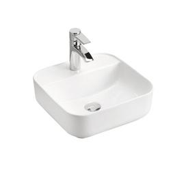 MAGIC WHITE 40 - Umywalka nablatowa 39cm ceramiczna