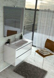 Oristo Zestaw szafka z umywalką i lustrem OPERA 90 cm