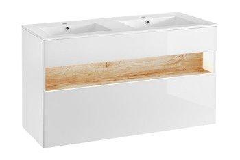 Szafka z umywalką 120 cm Bahama White