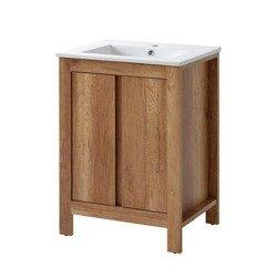 Szafka z umywalką 60 cm Classic Oak dąb Country
