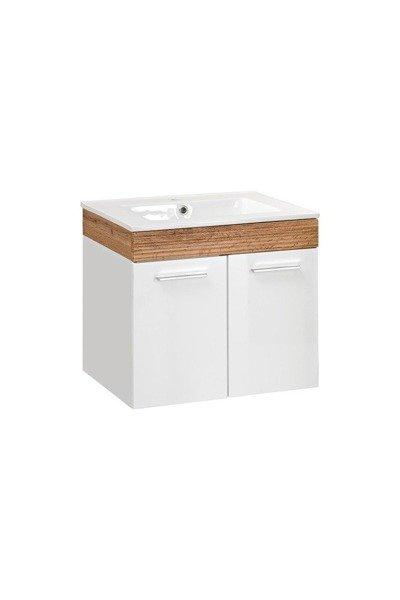 Aria szafka pod umywalkę biały połysk