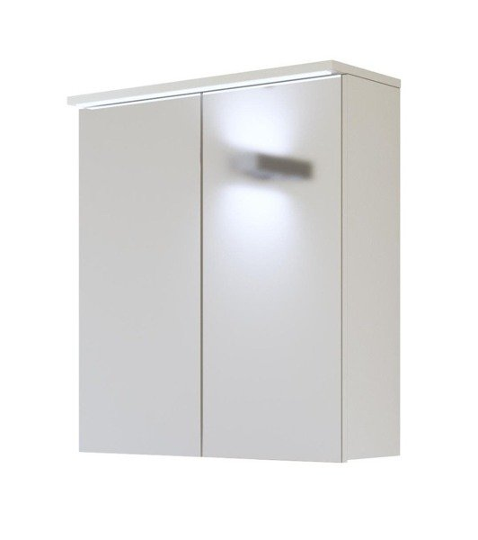 Białe meble łazienkowe z dużym lustrem Galaxy White 60 cm