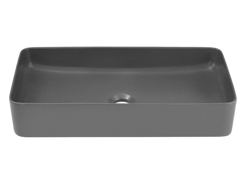 Nowoczesna umywalka E-6275 DARK MATT GREY