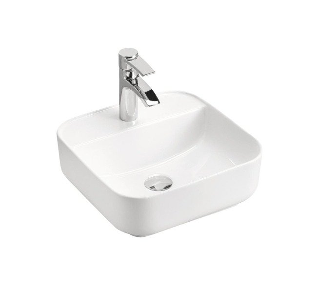 Nowoczesna umywalka ceramiczna nablatowa Magic 1