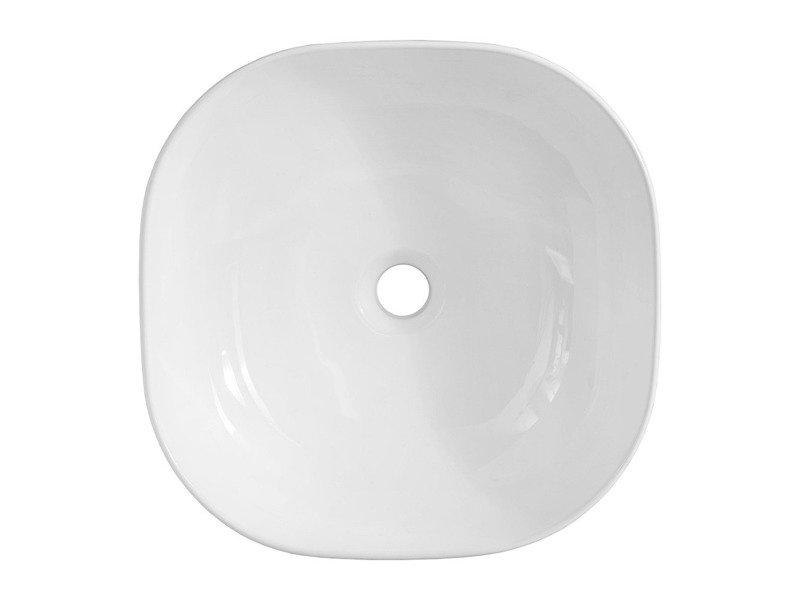Nowoczesna umywalka ceramiczna nablatowa Smile 1