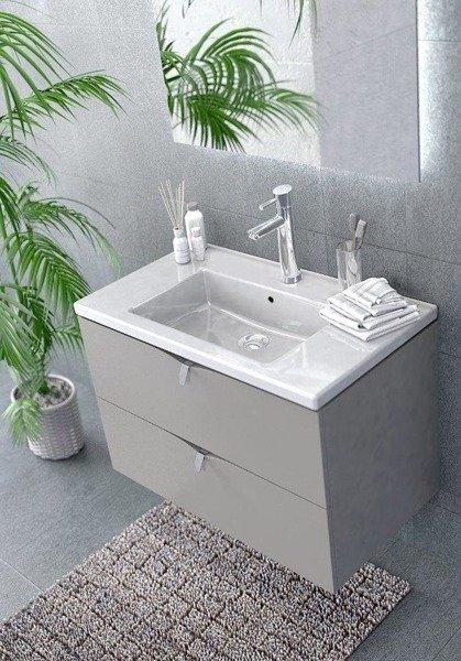 Oristo Szafka pod umywalkę 80 cm SIENA dąb czarny