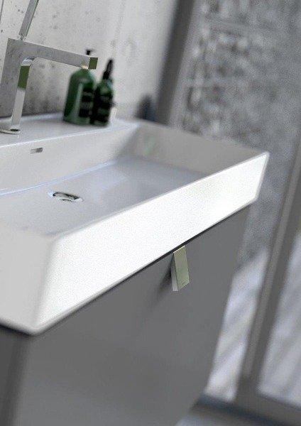 Oristo Szafka z umywalką 60 cm BOLD biały połysk