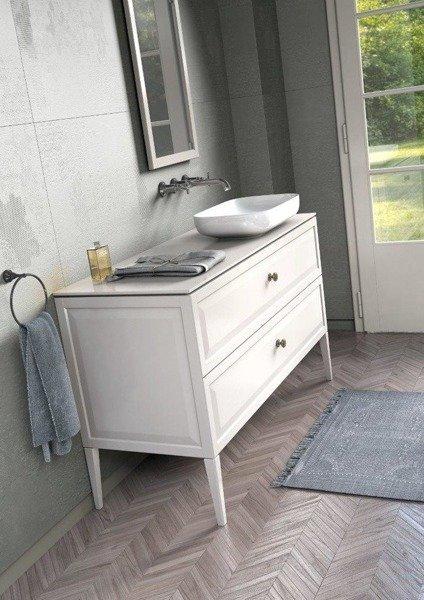 Oristo Szafka z umywalką MONTEBIANCO 60 cm biała z nóżkami
