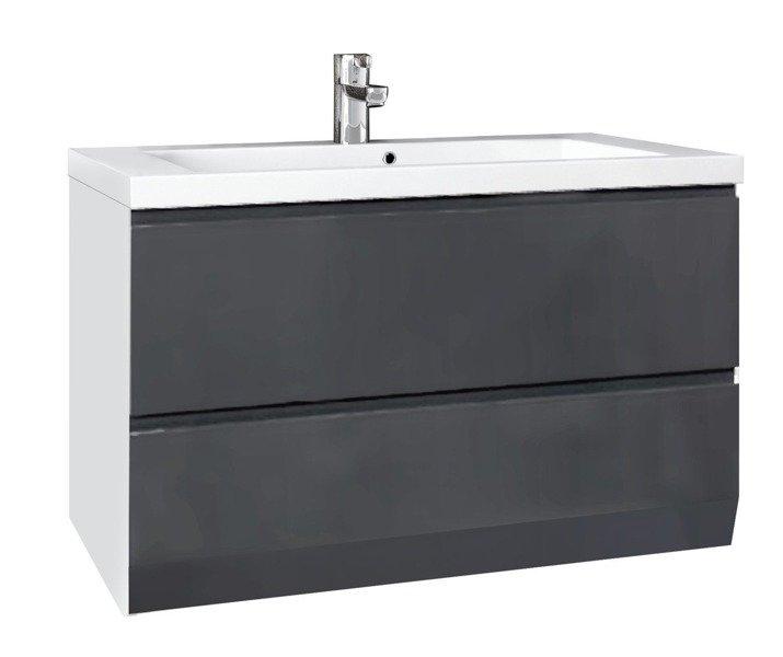 Oristo Zestaw mebli łazienkowych 125 cm BRYLANT grafitowy L