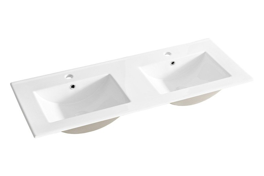 Podwójna umywalka ceramiczna 120 cm