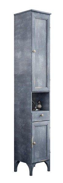 Prowanslaska szafka Wysoka Loriet Blue z przetarciami