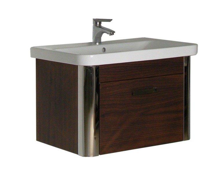 Stalowe meble łazienkowe z umywalką bez lustra