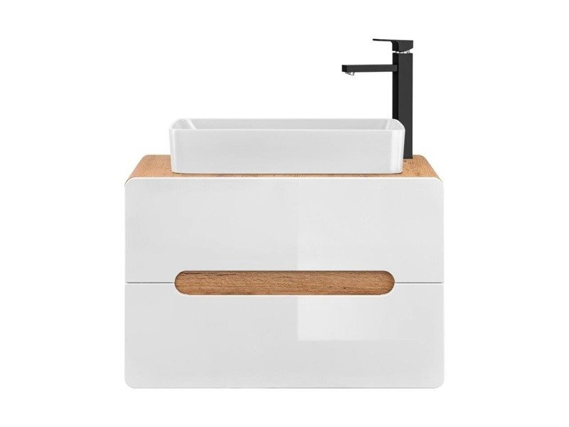 Szafka nastawna 80 cm Aruba + umywalka nastawna biała