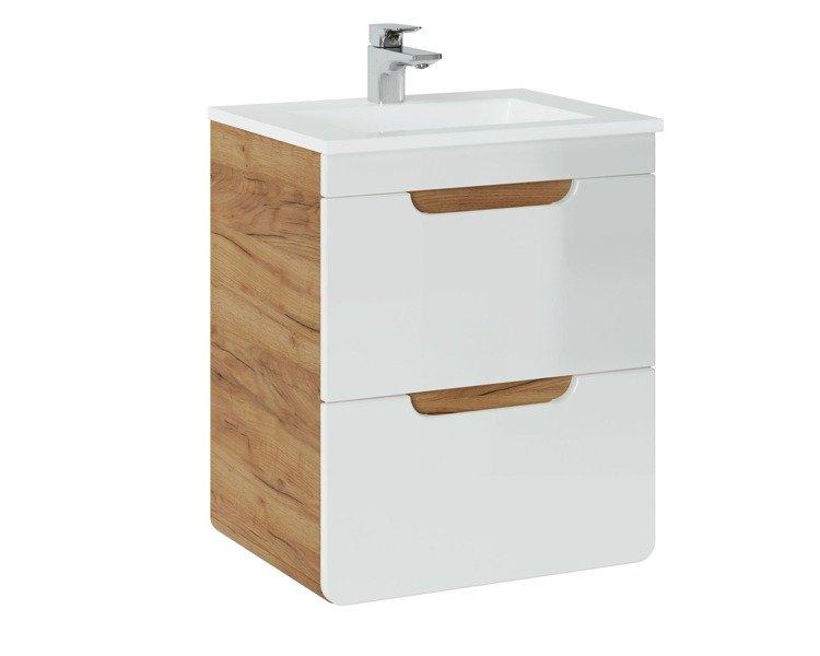 Szafka pod umywalkę 50 cm z szufladami Aruba