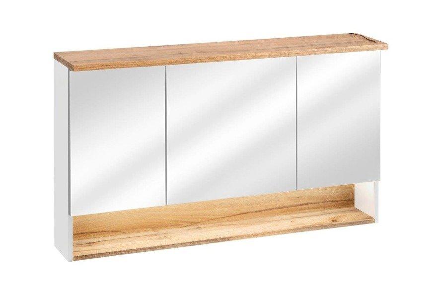 Szafka z lustrem 120 cm Bahama White