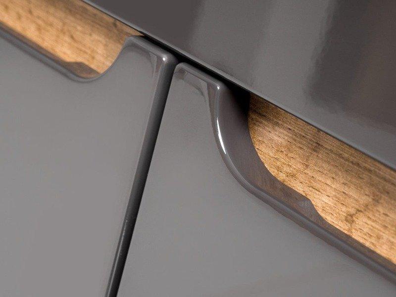 Szafka z umywalką 80 cm Bali szary połysk