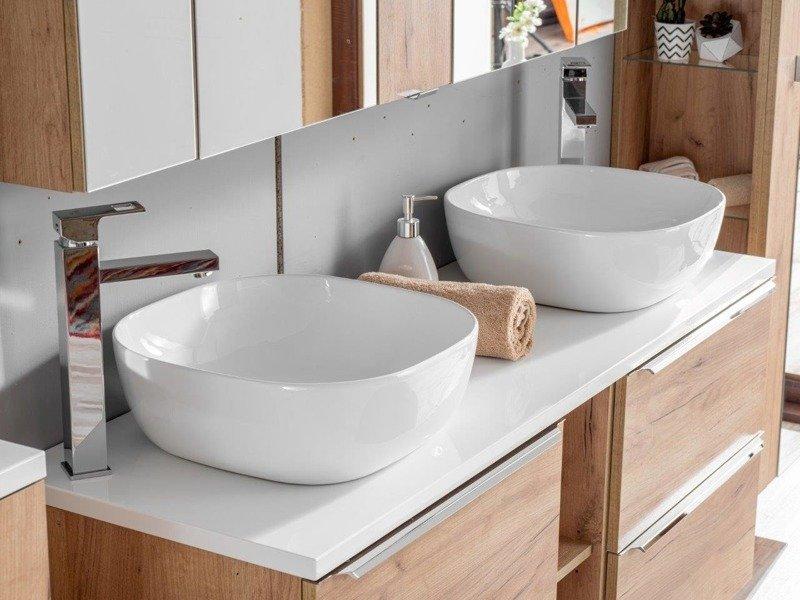 Szafki 60 cm  z umywalką 120 cm Capri dąb 820
